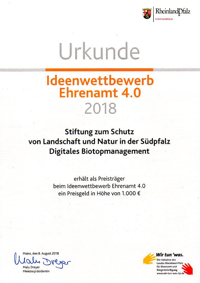 Urkunde Ideenwettbewerb