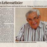Arbeit ist sein Lebenselixier – Gerd Pressler