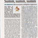 Summ, summ, summ – Bienenprojekt in Billigheim-Ingenheim