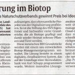 Digitalisierung im Biotop – Preis beim Ideenwettbewerb