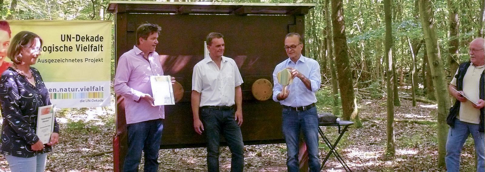 Auszeichnung Walderlebnispfad Ottersheim