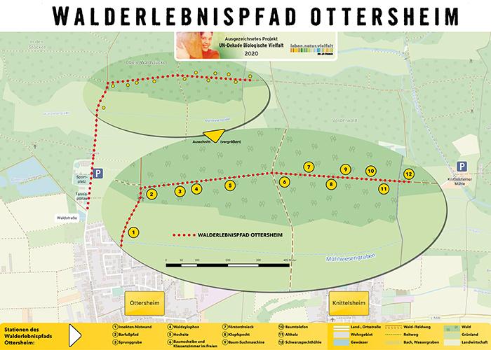 Karte Walderlebnispfad Ottersheim