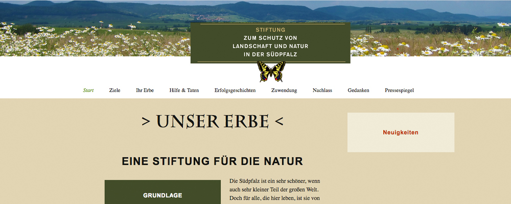 Homepage Stiftung